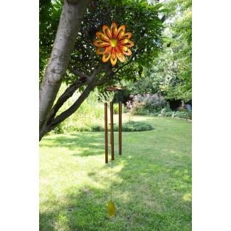 Carillón de viento Spinner Metal Flower