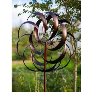 Gran hiladora de viento de metal - Grantchester-Bronce dorado.