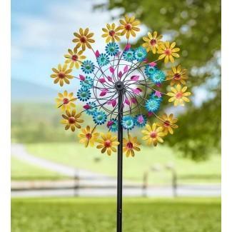 Daisy Metal Garden Wind Spinner