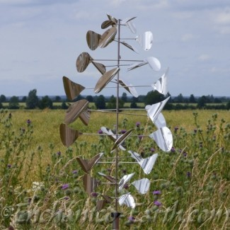 Large Steel Stainless Sppiral Wind Spinner