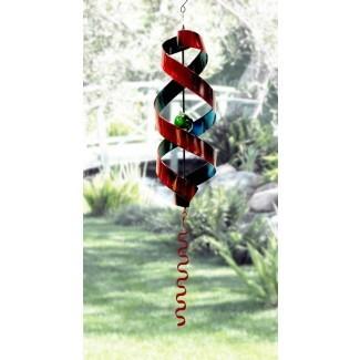 Carillón de viento con decoración de metal Johnnie Swirl