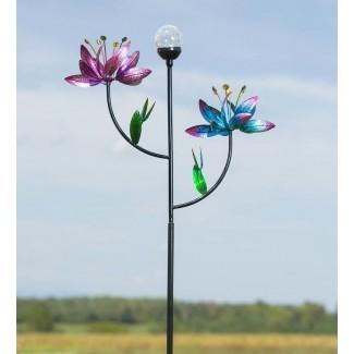 Spinner de viento para jardín de flores