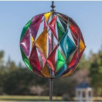 Spinner de viento Harlequin Ball Garden