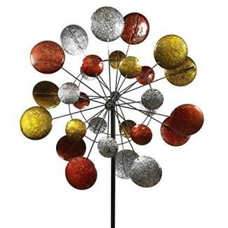 Jumbo Modern Art cinético Quadruple Wind Sculpture Spinner