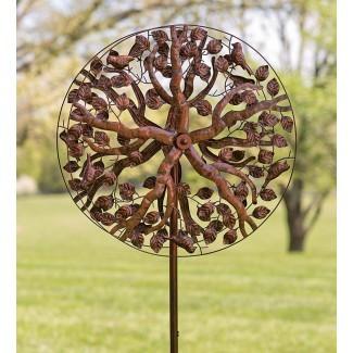 Spinner de viento de metal de color cobre-árbol de la vida | Yard ...