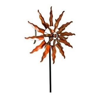 : Estaca de jardín con hélice de viento de metal extra grande ...