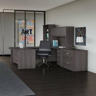 Studio C 6 Juego de oficina de 6 piezas con conejera