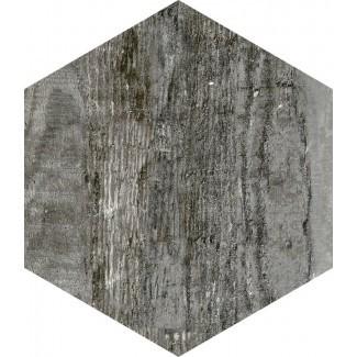 """Docklight Hexagon Azulejo de madera de porcelana de 9.5 """"x 11"""" en el viento"""