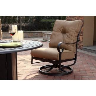 Silla de patio reclinable giratoria con cojines Carlitos Rocker (juego de 2)