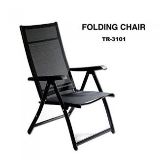 TechCare Heavy Duty Silla plegable reclinable ajustable duradera Piscina de jardín interior y exterior