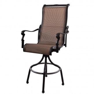 Muebles de patio Silla de aluminio / honda con respaldo giratorio ...