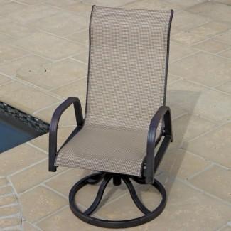 Sillas de patio mecedoras giratorias con respaldo alto   Diseño de silla