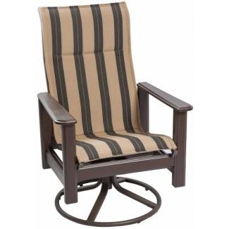 Sillas de patio basculantes giratorias con respaldo alto   Diseño de silla