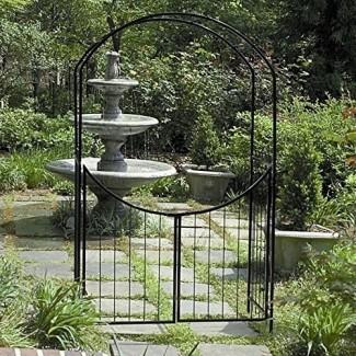 Gardman Savannah 8 Arbor de arco de acero de 6 pies con compuerta de World Source Partners LLC
