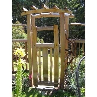 Diy cenador de jardín con puerta | Raised Ranch, diseños de cubierta
