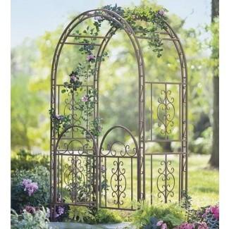 Ideas del cenador de jardín encantador con portón - Gazebo