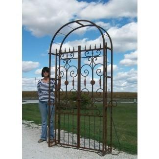Puerta del cenador de jardín francés Country realmente grande de metal ...