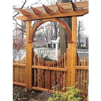 Puertos de jardín de madera hecho a medida de cedro rojo occidental