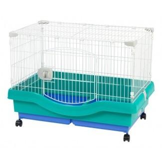 Rene Mobile Wire Animal Cage con ruedas
