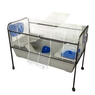 X-Large Soporte para jaula de conejillo de Indias de metal para interiores ...