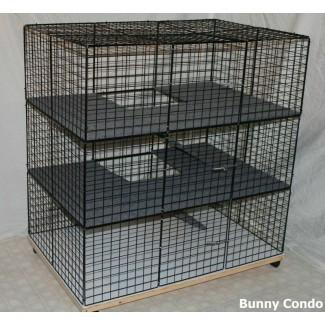 Jaula de conejos interior CONDO GRANDE CONEJITO, conejera doméstica, corral para mascotas