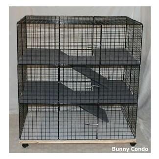 Nuevo interior grande conejito condo conejo jaula pluma Hutch |