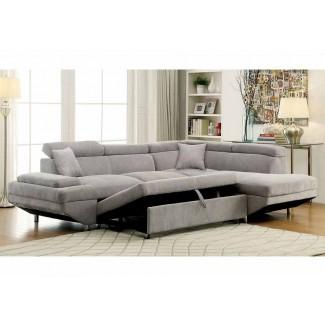 Sofá seccional Foreman Sofá cama extraíble ...