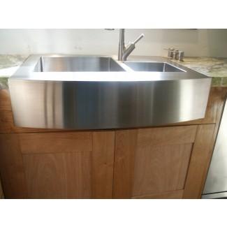 Cocina: limpieza conveniente con granja de acero inoxidable ...