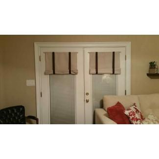 Cortinas romanas personalizadas para puertas francesas. French Door Window ...