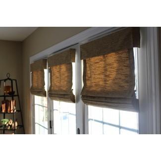 Paneles de cortinas fijas y cortinas romanas para puertas francesas ...