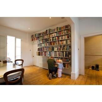 Gabinetes: bonitas estanterías de piso a techo con ...