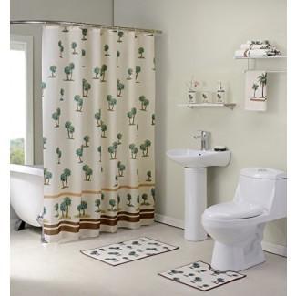 Conjunto de baño Madison Palm Tree de 12 pzs., Beige
