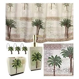 Amazon.com: juego de baño de 5 piezas Palm Tree | Tropical