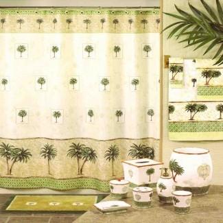 Decoración de baño de Palm Tree - Ideas de decoración Ideas de decoración