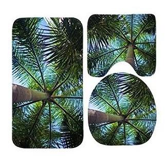 Amazon.com: CCBUTBA Palm Tree Bath Mat Set, 3 Piece