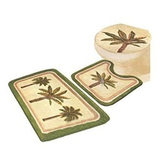 - 3 JUEGOS DE PC PALM TREE BATHROOM ALFOMBRAS - Baño