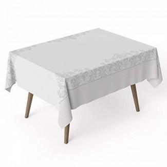 ARDEA HOME Mantel de algodón Gallica | Cubiertas de mesa de algodón laminado a prueba de agua para mesas rectangulares | Resistente a las manchas y toallita limpia Mantel Ideal para fiestas y niños | Sábanas planas ecológicas