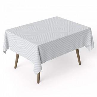 ARDEA HOME Mantel de algodón Geo | Cubiertas de mesa de algodón laminado a prueba de agua para mesas rectangulares | Resistente a las manchas y toallita limpia Mantel Ideal para fiestas y niños | Sábanas planas ecológicas