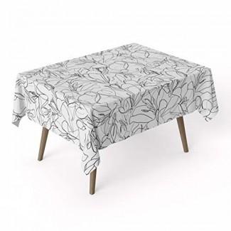 ARDEA HOME Mantel de algodón Mirum | Cubiertas de mesa de algodón laminado a prueba de agua para mesas rectangulares | Resistente a las manchas y toallita limpia Mantel Ideal para fiestas y niños | Sábanas planas ecológicas