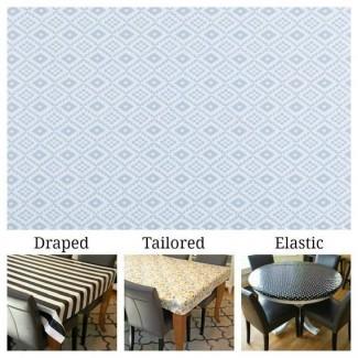 Algodón laminado también conocido como tamaño de mantel personalizado y mantel personalizado