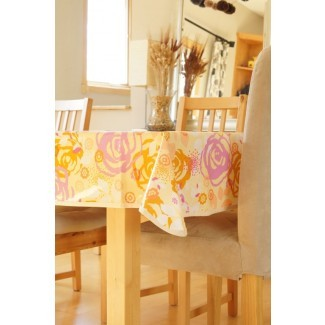 Mantel de algodón laminado Sábado floral