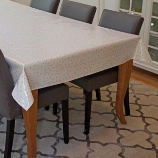 Para emabee Oilcloth también conocido como mantel de algodón laminado equipado