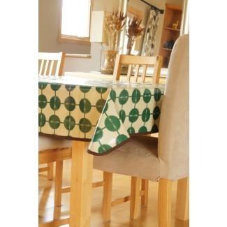 Mantel de algodón laminado Flecha verde