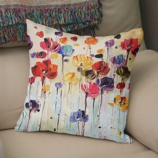 Isaiah Flowers Cotton Throw Pillow