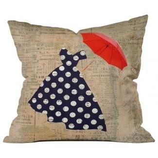 Cojín paraguas rojo, extra Large - Contemporary ...