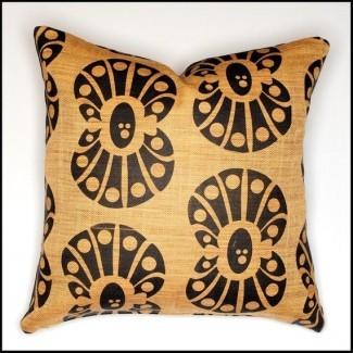 Funda de almohada extra grande con funda de almeja estampado con concha negra