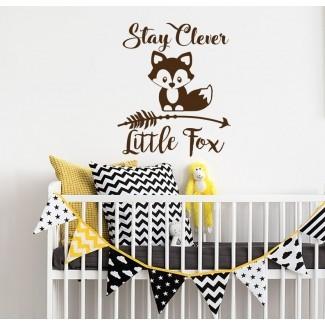 Calcomanía de pared Stay Clever Little Fox Nursery