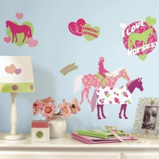 Sunny Horse Crazy Wall Decal