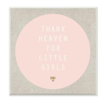 Gracias a Dios por las placas de pared rosa y marrón claro de Little Girls