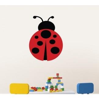 Decoración de pared impresa Ladybug